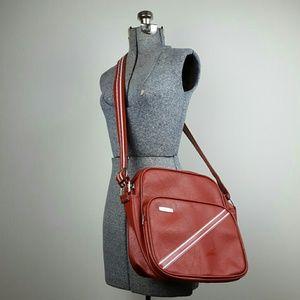Vintage Samsonite Red Carry On Bag